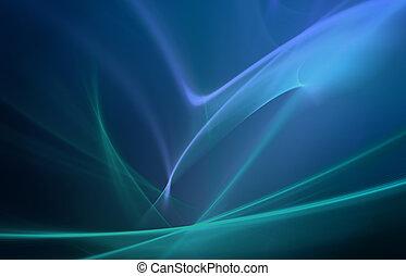 blå, abstrakt