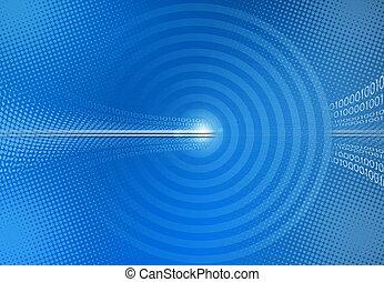 blå, binär, abstrakt, kodex, bakgrund