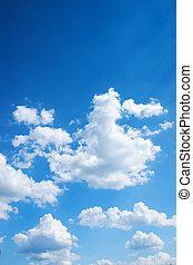 blå, blank himmel, färgrik, bakgrund