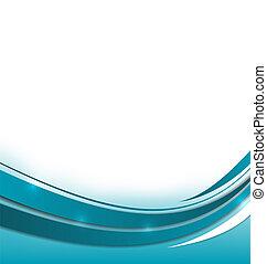 blå, broschyr, abstrakt