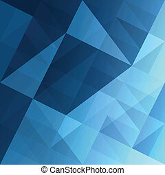 blå, eps10, abstrakt, bakgrund., vektor, trianglar