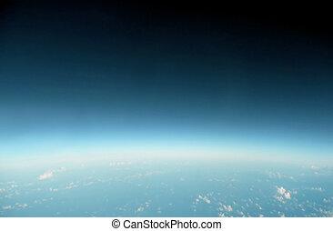 blå, horisont