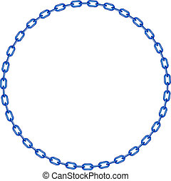 blå, kedja, cirkel, form