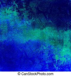 blå, mörk, abstrakt, nödställd, bakgrund
