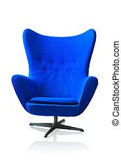 blå stol, nymodig