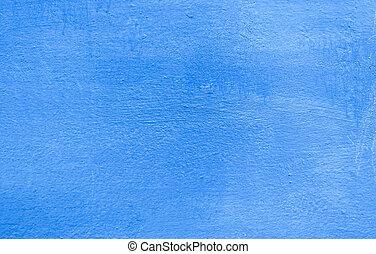 blå vägg, struktur, konkret, design, bakgrund
