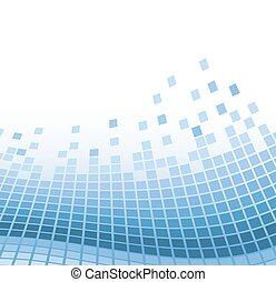 blå, vektor, abstrakt, illustration, particles., vågig, bakgrund, mosaik