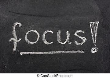 blackboard, ord, fokusera