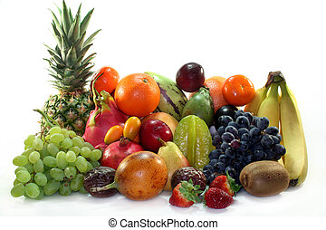 blanda, frukt