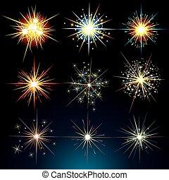 blinkar, stjärnor