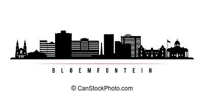 bloemfontein, horisontal, horisont, banner.