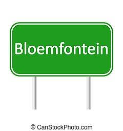 bloemfontein, skylt., väg