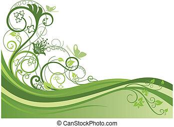 blom formgivning, 1, gräns, grön