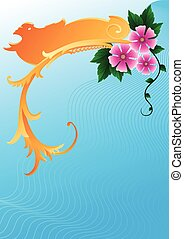 blomningen, bakgrund, abstraktion