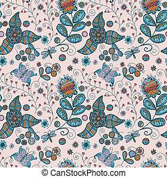 blomningen, mönster, seamless