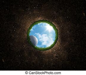 boll, golf, stjärnfall