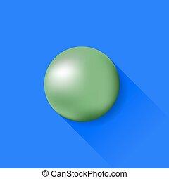 boll, grön