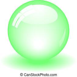 boll, grön, glatt
