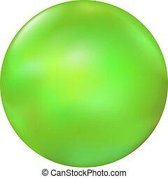 boll, grön, illustration