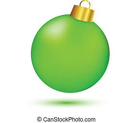boll, grön, jul