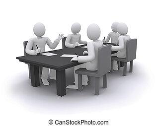 bord, arbete, folk affär, sittande
