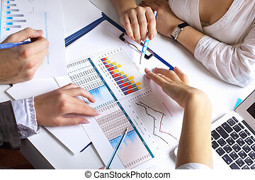 bord, finansiell, papper