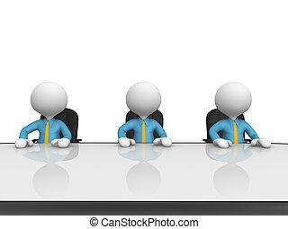 bord, konferens