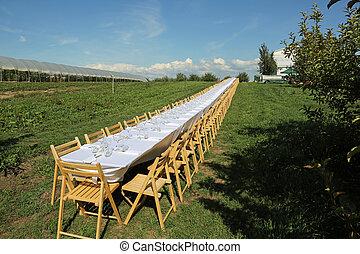bordläggar, utanför, länge