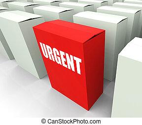 boxas, prioritet, brådskande, kritisk, refers, urgency