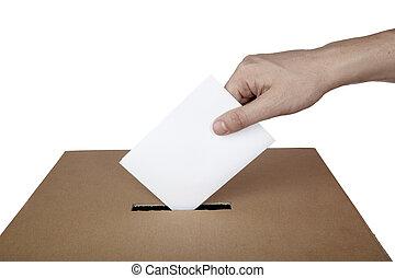 boxas, val, val, rösta, politik, omröstning, valsedel