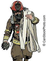 brandman, slang, eld