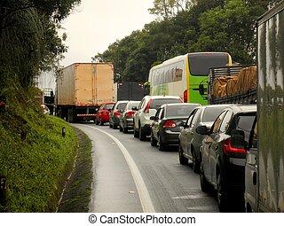 brasilien, marmelad, trafik, motorväg