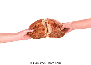 bread, hand