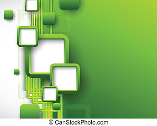 broschyr, abstrakt, grön