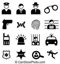 brott, polis, ikonen