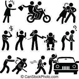 brottsling, inbrottstjuv, rånare, kidnappare