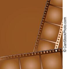 brun, 2, skissera, film