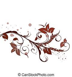 brun, mönster