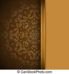 brun, prydnad, bakgrund