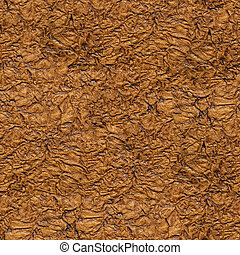 brun, seamless, struktur, bakgrund., papper, närbild, rynkig