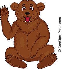 brun, tecknad film, björn