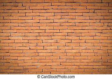 brun, vägg, space., struktur, bakgrund, tegelsten