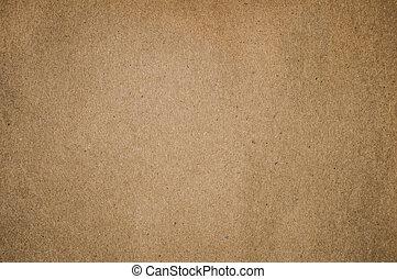 brunt pappers-, strukturerad, bakgrund, tom