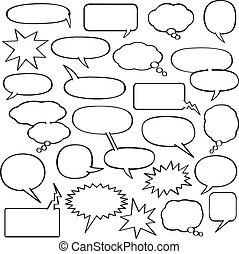 bubblar, anförande, tecknad film