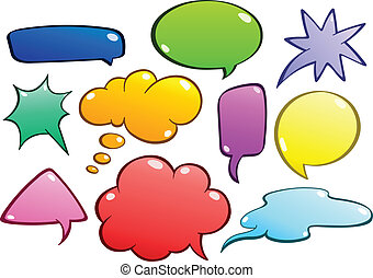 bubblar, sätta, anförande, färgrik