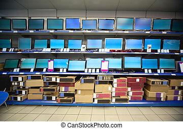 butik, flytande, kugge, kristall, förevisningen, elektronik, ordningsmanen