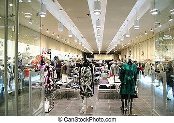 butik, kvinnlig, kläder