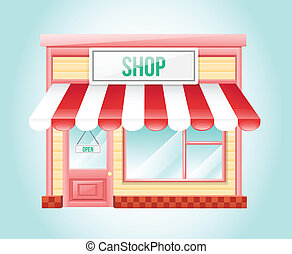 butik, marknaden, ikon