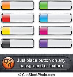 buttons., glatt, rektangulär