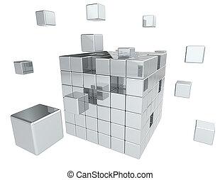 byggnad, blocks.